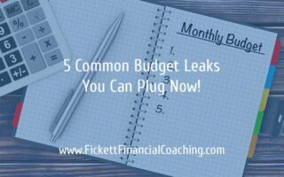 5 Common Budget Leaks You can Plug Now!